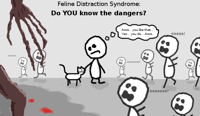 Ash-Matic Does Feline-Distraction Syndrome