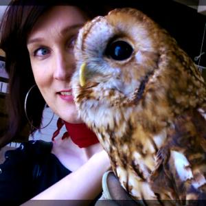 Me with an OWL. An OWL!!